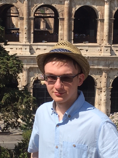 A picture of Tom taken in Rome.  Supplied by Tom Squire